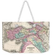 1855 Colton Map Of Turkey Iraq And Syria Weekender Tote Bag