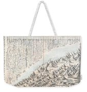 1855 Colton Map Or Chart Of The Worlds Mountains And Rivers Weekender Tote Bag