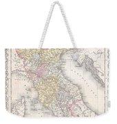 1856 Desilver Map Of Northern Italy Weekender Tote Bag