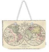 1856 Desilver Map Of The World  Weekender Tote Bag