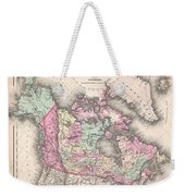 1857 Colton Map Of Canada And Alaska Weekender Tote Bag