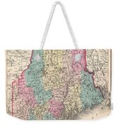 1857 Colton Map Of Maine Weekender Tote Bag