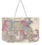 1857 Colton Map Of Massachusetts And Rhode Island Weekender Tote Bag