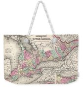 1857 Colton Map Of Ontario Canada Weekender Tote Bag