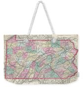 1857 Colton Map Of Pennsylvania Weekender Tote Bag