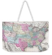 1857 Colton Map Of The United States  Weekender Tote Bag