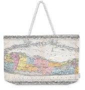 1857 Colton Travellers Map Of Long Island New York Weekender Tote Bag