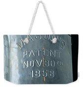 1858 Masons Jar Weekender Tote Bag