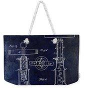 1862 Corkscrew Patent Drawing Weekender Tote Bag