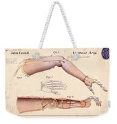 1865 Artificial Limbs Patent Drawing Weekender Tote Bag