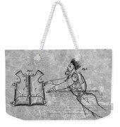 1869 Life Preserver Patent Charcoal Weekender Tote Bag
