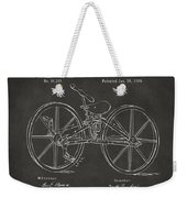 1869 Velocipede Bicycle Patent Artwork - Gray Weekender Tote Bag by Nikki Marie Smith