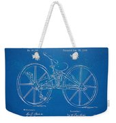 1869 Velocipede Bicycle Patent Blueprint Weekender Tote Bag