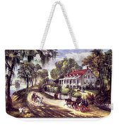 1870s 1800s A Home On The Mississippi - Weekender Tote Bag