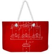 1873 Brewing Beer And Ale Patent Artwork - Red Weekender Tote Bag