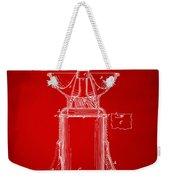 1873 Coffee Mills Patent Artwork Red Weekender Tote Bag
