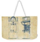 1876 Beer Keg Cooler Patent Artwork - Vintage Weekender Tote Bag