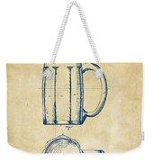 1876 Beer Mug Patent Artwork - Vintage Weekender Tote Bag