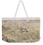 1876 Birds Eye Map Of Mckinney Texas Weekender Tote Bag