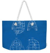 1878 Baseball Catchers Mask Patent - Blueprint Weekender Tote Bag by Nikki Marie Smith