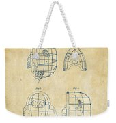 1878 Baseball Catchers Mask Patent - Vintage Weekender Tote Bag by Nikki Marie Smith