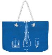 1878 Cork Extractor Patent Artwork - Blueprint Weekender Tote Bag