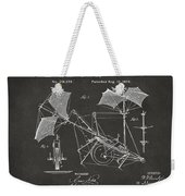 1879 Quinby Aerial Ship Patent - Gray Weekender Tote Bag by Nikki Marie Smith