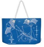 1879 Quinby Aerial Ship Patent Minimal - Blueprint Weekender Tote Bag