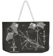 1879 Quinby Aerial Ship Patent Minimal - Gray Weekender Tote Bag by Nikki Marie Smith