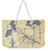 1879 Quinby Aerial Ship Patent Minimal - Vintage Weekender Tote Bag by Nikki Marie Smith