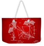 1879 Quinby Aerial Ship Patent - Red Weekender Tote Bag