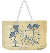 1879 Quinby Aerial Ship Patent - Vintage Weekender Tote Bag by Nikki Marie Smith