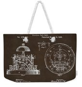 1881 Alexander Graham Bell Electric Call Bell Patent Espresso Weekender Tote Bag