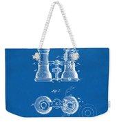 1882 Opera Glass Patent Artwork - Blueprint Weekender Tote Bag