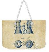 1882 Opera Glass Patent Artwork - Vintage Weekender Tote Bag