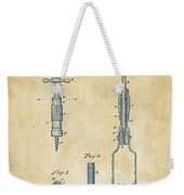 1884 Corkscrew Patent Artwork - Vintage Weekender Tote Bag
