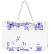 1885 Roller Skate Patent Blueprint Weekender Tote Bag