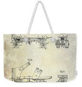 1885 Roller Skate Patent Drawing Weekender Tote Bag