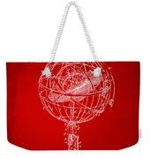 1885 Terrestro Sidereal Sphere Patent Artwork - Red Weekender Tote Bag
