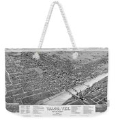 1886 Vintage Map Of Waco Texas Weekender Tote Bag