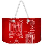 1889 First Computer Patent Red Weekender Tote Bag