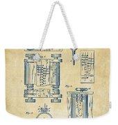 1889 First Computer Patent Vintage Weekender Tote Bag