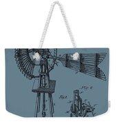 1889 Windmill On Blue Weekender Tote Bag