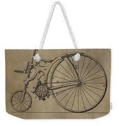 1890 Bicycle Patent Weekender Tote Bag