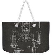 1890 Bottling Machine Patent Artwork Gray Weekender Tote Bag