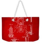 1890 Bottling Machine Patent Artwork Red Weekender Tote Bag