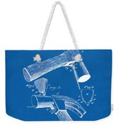 1890 Hammer Patent Artwork - Blueprint Weekender Tote Bag