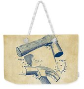 1890 Hammer Patent Artwork - Vintage Weekender Tote Bag