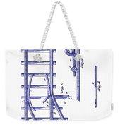 1890 Railway Switch Patent Blueprint Weekender Tote Bag