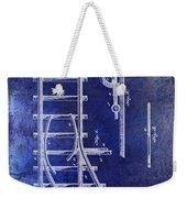 1890 Railway Switch Patent Drawing Blue Weekender Tote Bag